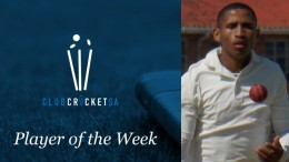 Club Cricket SA Player of the Week: Julian Fortuin