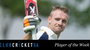 Byron Boshoff Club Cricket SA Player of the Week