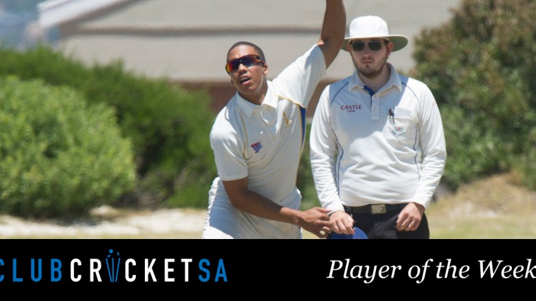 Club Cricket SA Player of the Week Warren Ekstraal