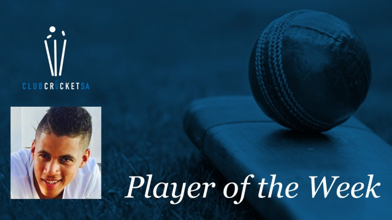 Club Cricket SA Player of the Week Warrick Rhoda