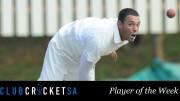 Jody Lawrence Club Cricket SA Player of the Week