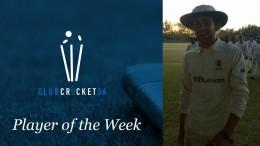 Michael Lord Club Cricket SA Player of the Week