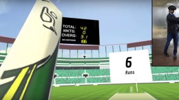Watch: Virtual reality cricket simulator