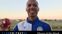 Josh Savage Club Cricket SA Player of the Week