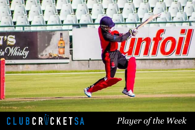 Winslow Bedien Club Cricket SA Player of the Week