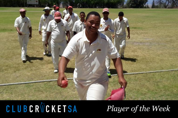 Rudi Swarts Club Cricket SA Player of the Week