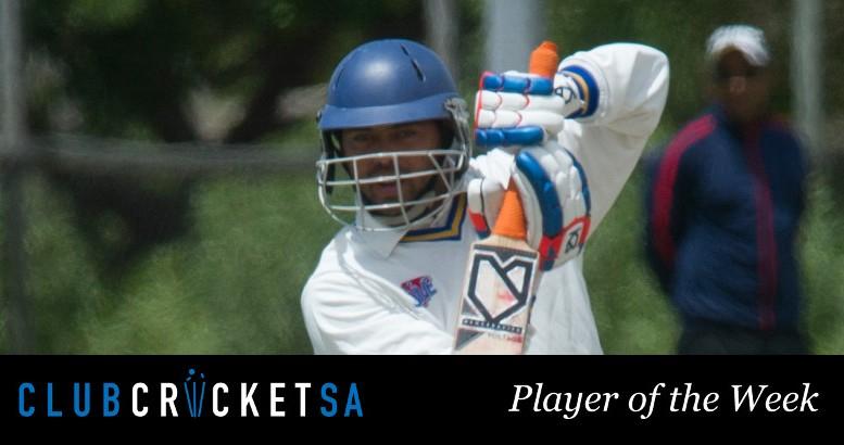 Keenan Bowers Club Cricket SA Player of the Week