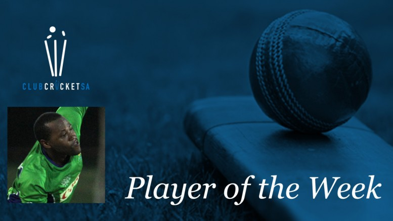 Siya Simetu Club Cricket SA Player of the Week