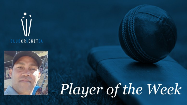 Nawaaz September Club Cricket SA Player of the Week