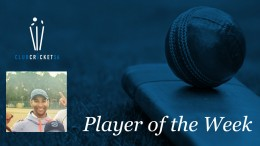 Club Cricket SA Player of the Week Rostill Wessels