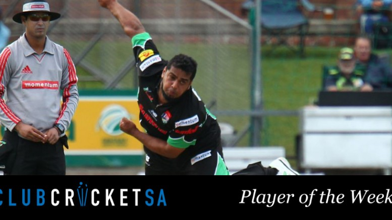 Club Cricket SA Player of the Week Yusuf Abdulla