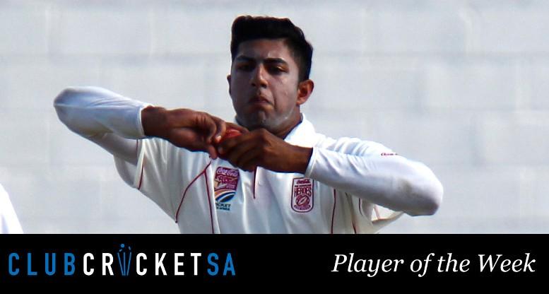 Farhaan Sayanvala Club Cricket SA Player of the Week