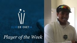 Club Cricket SA Player of the Week Darryl Losper