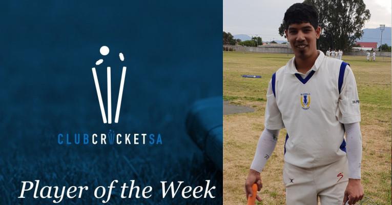 Ja-waad Williams Club Cricket SA Player of the Week Blue Bells Cricket Club