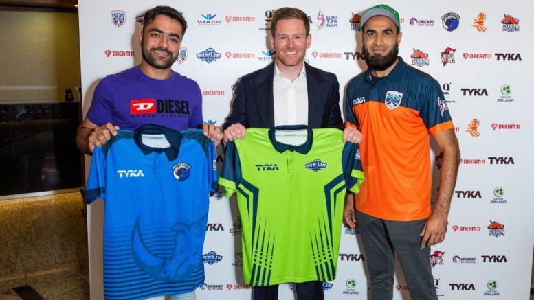 File image: Rashid Khan, Eoin Morgan and Imran Tahir.