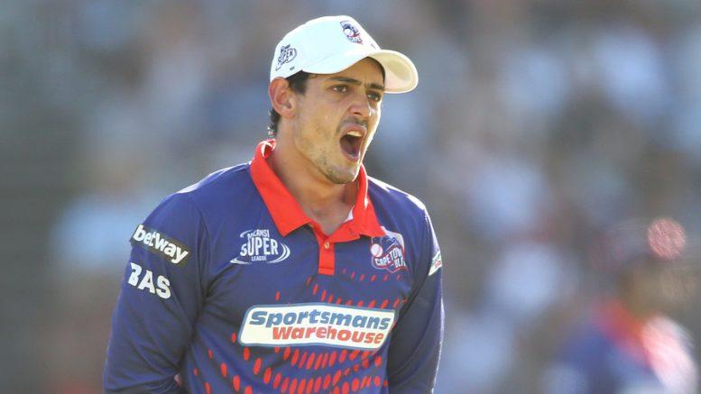 File image: Quinton de Kock of the Cape Town Blitz.